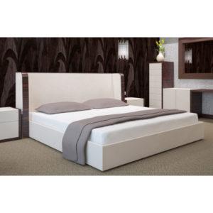valge kummiga voodilina